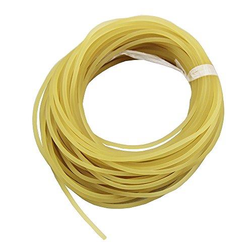 Mangobuy UP100 Ligne de pêche de 10 mètres, diamètre 2 mm/2.5 mm/3 mm/3.5 mm, unie, solide, classique, en caoutchouc élastique, Red, 2 mm