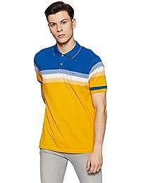 Park Avenue Men's Striped Regular Fit T-Shirt