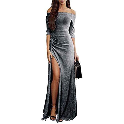 Weant Abiti Lunghi Donna Eleganti Vintage Estivi Vestiti Casual Donna - Maxi  Abito Abiti Donna Formale 11d26b9af5c