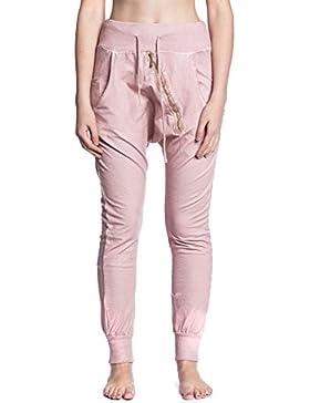 [Patrocinado]Abbino 5016 Pantalones Harem con Cremallera Oblicua para Mujeres - Hecho en Italia - 5 Colores - Entretiempo Primavera...