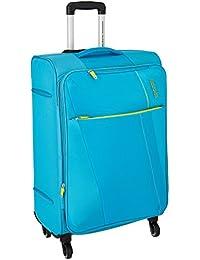 American Tourister Michigan Polyester 57.5 cms Aqua Carry-On (AMT Michigan SP57CM TSA Aqua)