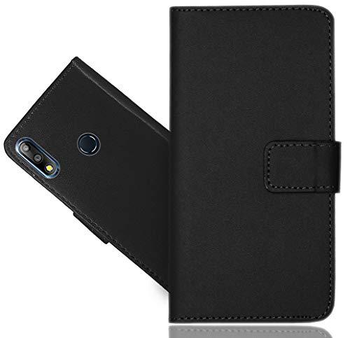 ASUS Zenfone Max Pro (M2) ZB631KL Handy Tasche, CaseExpert® Schwarz Wallet Case Flip Cover Hüllen Etui Hülle Ledertasche Lederhülle Schutzhülle Für ASUS Zenfone Max Pro (M2) ZB631KL