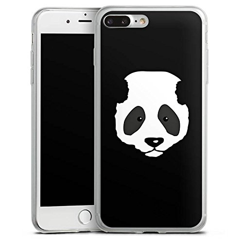Apple iPhone 8 Slim Case Silikon Hülle Schutzhülle Panda Bär Pandabär Silikon Slim Case transparent