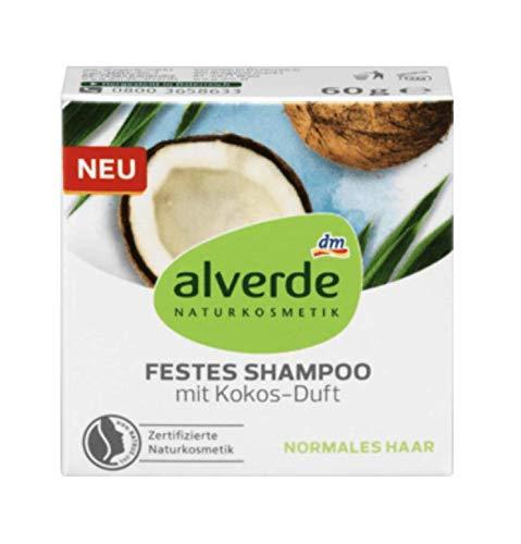 alverde NATURKOSMETIK festes Shampoo mit Kokos, 1 x 60...