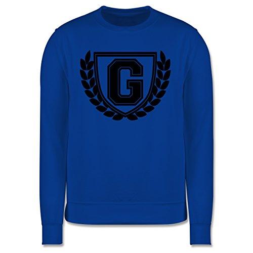Anfangsbuchstaben - G Collegestyle - Herren Premium Pullover Royalblau