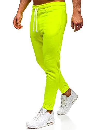 BOLF Herren Sporthose Trainingshose Jogginghose Sport Jogger Street Style 11121 Gelb-Neon L [6F6]