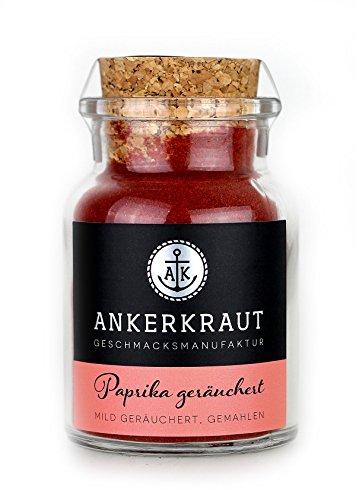 Ankerkraut Paprika geräuchert - das Rauch Gewürz zum Grillen und Kochen, 80gr im Korkenglas (Bbq-sauce-pulver)