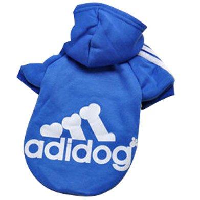 Eastlion Adidog Hund Pullover Welpen-T-Shirt Warm Pullover Mantel Pet Kleidung Bekleidung, Saphirblau, Gr. XL - Wollte Freund Für Gott