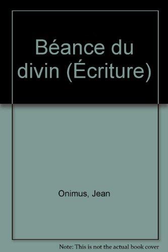 Béance du divin par Jean Onimus