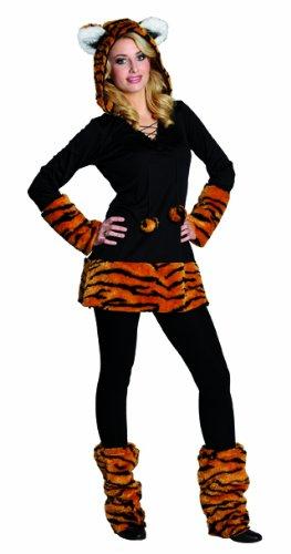 Rubies Tiger Kostüm Kleid Damen Teenager NEU 32-48 (Damen Tiger Kostüm)