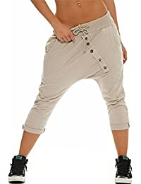 e0a9fc51a83d Hibote Women Summer Harem Trousers 3 4 Baggy Pants ropped Pants Shorts  Legging Beach Pants