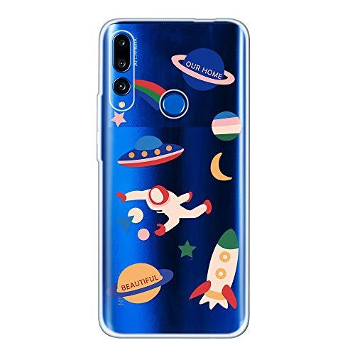 Miagon Klar Hülle für Huawei Honor 20 Lite,Kreativ Silikon Case Ultra Schlank Transparente Weich Handyhülle Anti-Kratzer Stoßfest Schutzhülle,Platz