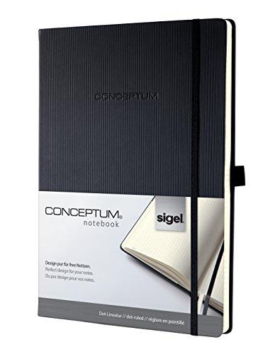 Sigel CO108 Taccuino CONCEPTUM, Copertina Rigida, 194 Pagine a Puntini, Circa A4, Nero