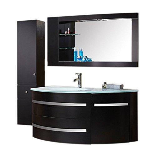Mobile bagno arredo bagno completo 120 cm lavabo rubinetti mod. black ambassador nuovo imballato!