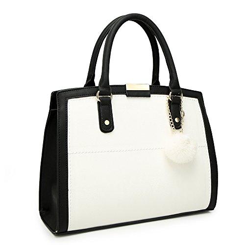 Elegant , Damen Tote-Tasche weiß