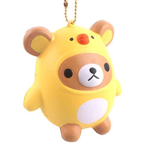 Chicken Cute (Yorking Cartoon Bear Chicken Slow Rebound PU Children's Toy Super Cute Mobile Phone Pendant)