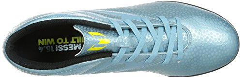 adidas Messi 15.4 Turf Herren Fußballschuhe Blau - Bleu (Matt Ice Metallicf12/Bright Yellow/Core Black)