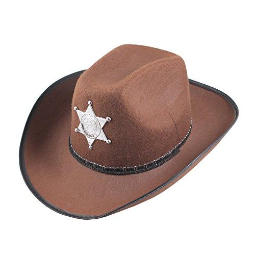 tern wilden Westen Sheriff Hut Halloween Party Kostüm (braun) (Gute Sheriff Kostüme)