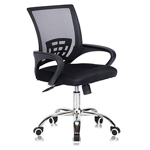 ShJttt-chair or stool Bürostuhl Verstellbare Mesh Swivel Home Office Stühle Low Back Computer Schreibtisch Stuhl für die Arbeit, schwarz