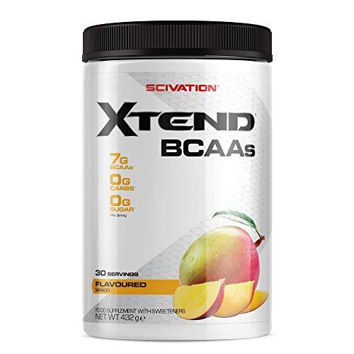 Scivation - Xtend - Suplemento de aminoácidos de cadena ramificada (BCAA) - Mango - 30 raciones