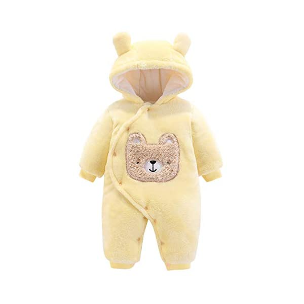 Borlai - Mono de Franela para bebé recién Nacido, para Invierno, con Dibujos Animados Mono de Invierno Traje de Nieve… 1