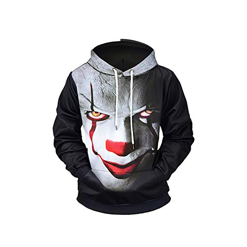 Yaxuan Horror-Clown Cosplay-Kostüme Cosplay-Hoodies Drucken Lange Ärmel Mantel Für ()