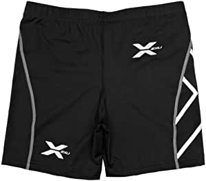 2XU PWX Perform Herren Kompression 1/2-Shorts, Schwarz/Schwarz, S
