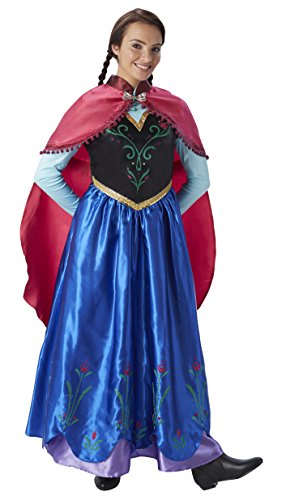 Rubie's 3810414 - Anna Frozen - Adult, Action Dress Ups und Zubehör, M Polyester Warm Ups
