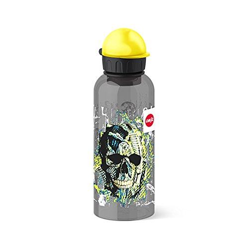 Emsa Kinder-Trinkflasche, 600 ml, Sicherheitsverschluss, Teens Skull, Tritan, 518131