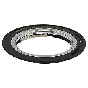 Fotodiox Pro Adaptateur de monture d'objectif avec Puce de Confirmation de Mise au Point et objectif 1.4x de correction pour une mise au point - pour Objectif Contax / Yashica -C/Y/ CY  à Caméra Canon EOS comme EOS 7D/ 5D/ 60D et Rebel T3