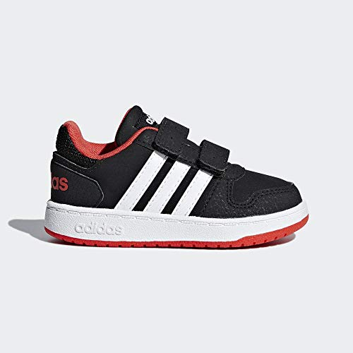 adidas Unisex-Kinder Hoops 2.0 Fitnessschuhe, Schwarz (Negro 000), 25 EU Kleinkinder-kinder Sneakers Schuhe