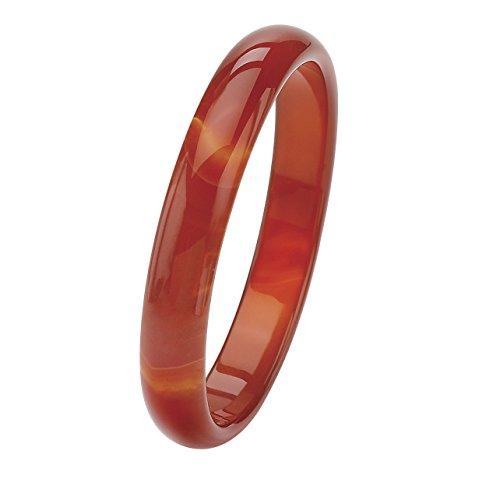 Jade-armreif Echte (Angelina D'Andrea - Armreif - echte rote Agate - 22,8 cm)