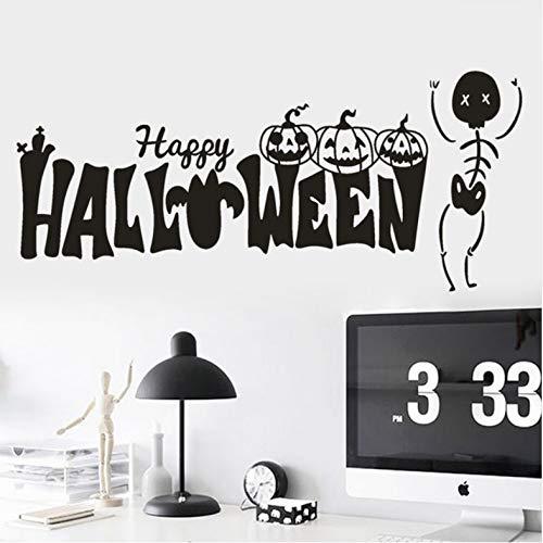 Yirenfeng Happy Halloween Kürbis Knochen Wandaufkleber Fenster Dekoration Abziehbild Dekor Festival Liefert Wandaufkleber Großhandel