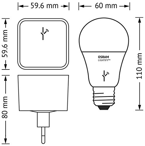 OSRAM LIGHTIFY Starter Kit Gateway – Controller zur Fernsteuerung / Als Remote-Schnittstelle für alle LIGHTIFY-Produkte / LED-Glühlampe / dimmbar / warmweiß bis tageslicht 2000K – 6500K und Farbsteuerung RGB / Kompatibel mit Alexa - 3