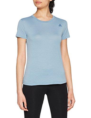 Adidas cf4530, t-shirt sportiva donna, azzurro, m