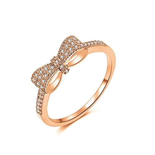 Fertige Mode (LnLyin Rosa Gold Persönlichkeit Mode Schmetterling Fertige Diamant Hochwertigen Mikro Diamant Ring Schmuck)