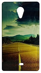 Vcare Shoppe Metalic Effect Printed Mobile Back case cover for Micromax Canvas Fire 5 Q386