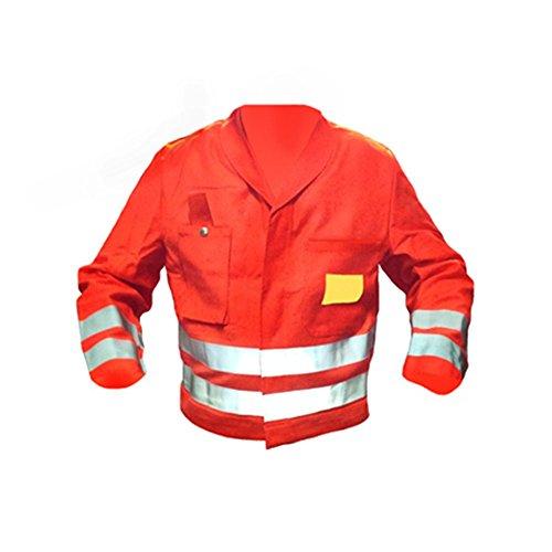 Warnschutzjacke Warnjacke Signaljacke Sicherheitsjacke Arbeitsjacke Bundjacke Jacke Warnschutz flammfest - orange Gr. M L XL