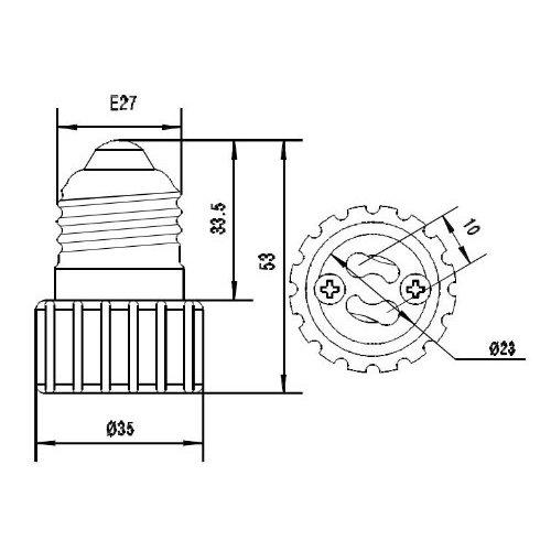 Adaptador - SODIAL(R) 4 x E27 a GU10 Conversor de adaptador sin soldadura de lampara LED/CFL, Ofertas especiales disponibles