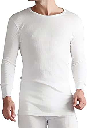 1 Nr Mens echtes Original Thermal Tog Wärmehalter Langarm-Unterhemd - WEISS ... XXL extra extra Große