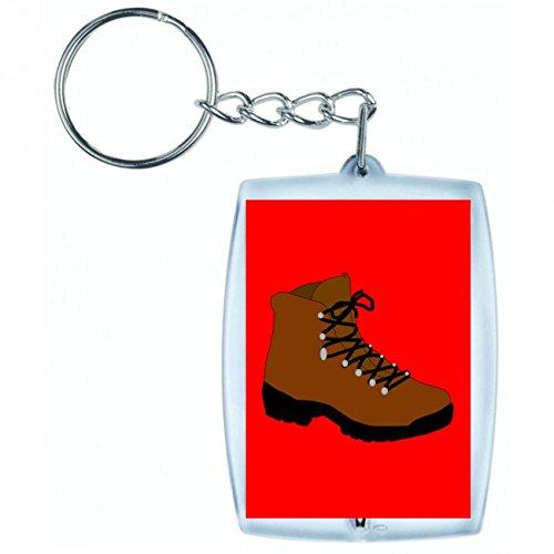 "Preisvergleich Produktbild Schlüsselanhänger ""WANDERSCHUH- SCHUHE- WINTER- ARBEIT- WANDERN- WANDERER- ABENTEUER- LEBENSSTIL- WANDERWEG- CAMPING"" in Rot | Keyring - Taschenanhänger - Rucksackanhänger - Schlüsselring"