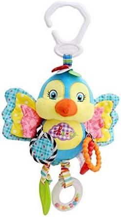Vvlove Baby Toys Hochet à suspendre Poussette Siège auto Berceau peluche d'activité Animal en peluche Berceau Carillon avec anneau de dentition cadeaux (Bird) d'activité aa970b