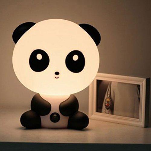 LEDMOMO Dibujos animados Animal noche Panda lindo luz mesa lámpara niños durmiendo cama habitación noche lámpara (enchufe de la UE)
