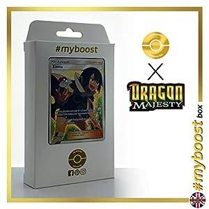 Zinnia (Tristana) 70/70 Entrenadore Full Art - #myboost X Sun & Moon 7.5 Dragon Majesty - Box de 10 cartas Pokémon Inglesas