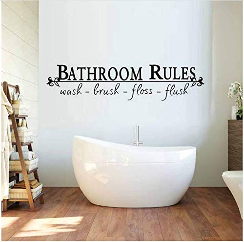 Newberli Badezimmer Regeln Zeichen Wandaufkleber Badezimmer Aufkleber Abnehmbare Wasserdichte Vinyltapete Wandkunst Dekoration Zubehör