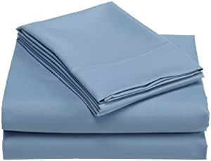 Divatex Home Fashions Luxury Microfiber Twin Sheet Set, Blue by Divatex Home Fashions