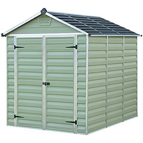Caseta de jardín en policarbonato Skylight 4.25 m² - Verde