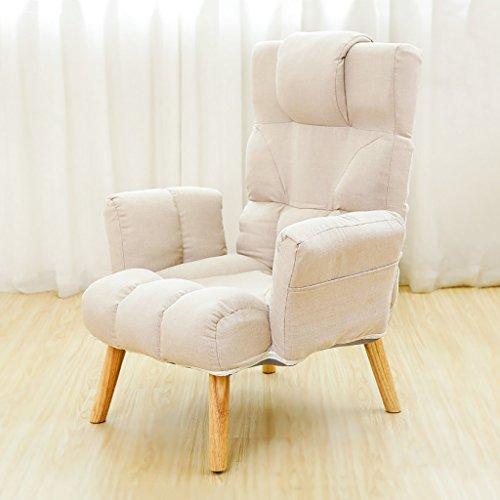 LIANGJUN Canapé Paresseux Chaise Pliable Ajustable Salon Chambre Balcon, 4 Couleurs, 55 * 66 * 92 Cm (Couleur : Marron clair)