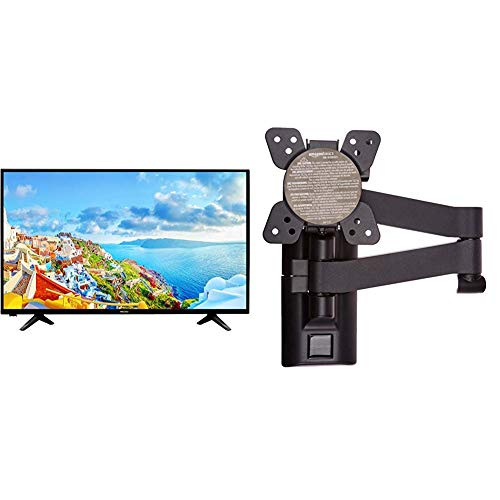 Hisense H32AE5000 80 cm (32 Zoll) LED Fernseher (HD, Triple Tuner) & AmazonBasics - Bewegliche TV-Wandhalterung, für Fernseher mit Einer Bildschirmdiagonale von 12-39 Zoll / 30,5-99,1cm