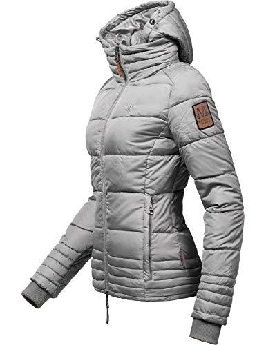 Marikoo Damen Winterjacke Stepp-Jacke Sole Grau Gr. XXL